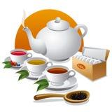 Tea  icon. Different teas and tea pot icon Stock Image