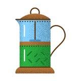 Tea icon retro texture. royalty free illustration