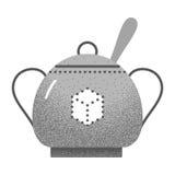 Tea icon retro texture. Royalty Free Stock Image