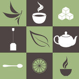 Tea. Icon Set Stock Photography