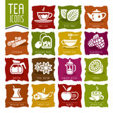 Tea icon set - 2. Quality set of icons that can be used for tea Royalty Free Stock Images