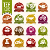 Tea icon set Stock Photos