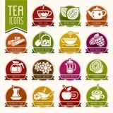 Tea icon set Stock Photos