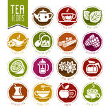 Tea icon set Royalty Free Stock Image