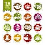 Tea icon set Royalty Free Stock Image