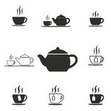 Tea icon set. Tea vector icons set. Illustration for graphic and web design stock illustration