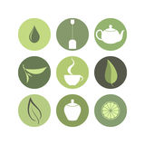Tea. Icon set Stock Image