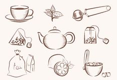 Tea icon Royalty Free Stock Photo