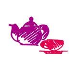 Tea icon vector sketch Royalty Free Stock Image