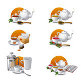 Tea icons Royalty Free Stock Image