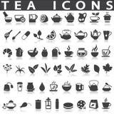 Tea Icons Royalty Free Stock Photos