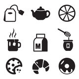 Tea Icons Stock Photography