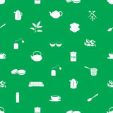 Tea icons pattern  Royalty Free Stock Images