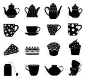 Tea icons set Royalty Free Stock Image
