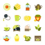 Tea Icons Set Royalty Free Stock Photo