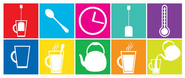 Tea icons Stock Image