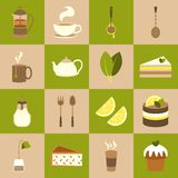 Tea icons set Royalty Free Stock Image