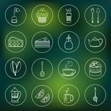 Tea icons set outline Stock Photo