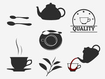 Tea icons Stock Images