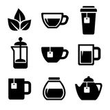 Tea Icons Set. Vector. Royalty Free Stock Photos