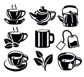 Tea icons Stock Photos