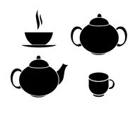 Tea Icons Vector Illustration Royalty Free Stock Images