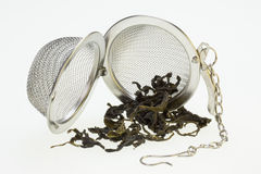 Tea Infusing Basket - Chinese Green Tea Royalty Free Stock Images