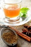 Tea infussion with mint and spices aromatic tea Stock Image