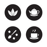 Tea items simple icons set Stock Images