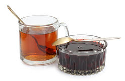 Tea and jam Stock Images
