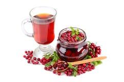 Tea and jam Stock Photo
