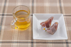 Tea and japanese desserts Royalty Free Stock Image