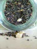 Tea jar. 's open mouth Royalty Free Stock Photos