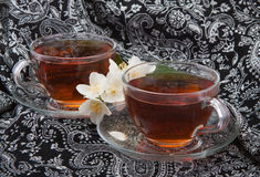 Tea with Jasmine. A cap of tea Royalty Free Stock Photography