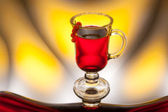 Tea or juice with berries Stock Photo