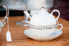 Tea just for you Royalty Free Stock Images