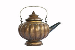 Tea kettle teakettle old vintage. On white background Stock Photos