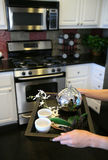 Tea in the Kitchen (Narrow focus on tea kettle) Stock Image