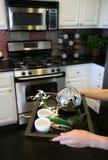 Tea in the Kitchen (Narrow focus on tea kettle) Stock Image