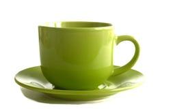 Tea kuper isolerat på vitbakgrund royaltyfri fotografi
