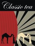 Tea label Royalty Free Stock Photography