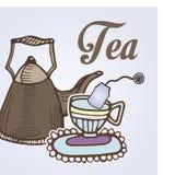 Tea label Stock Photo