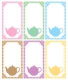 Tea label Stock Image