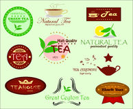 Tea Labels Royalty Free Stock Photo