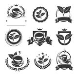 Tea labels and icons set. Vector Stock Image