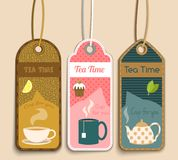 Tea labels set Royalty Free Stock Photo