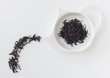 Tea leaf on kettle plate, Food creative concept Stock Photos