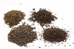 Tea leafs stock photos