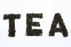 Tea leaves stock image