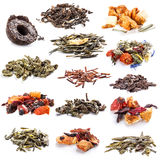 Tea leaves collection Royalty Free Stock Photos